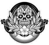 Floral Skull — Stockvektor