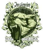 Canis lupus insignia — Stock Vector
