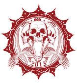 United skulls — Stock Vector