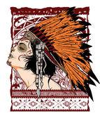 Jeune autochtone — Vecteur