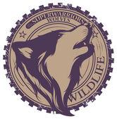 Злой волк вектор - a8d7
