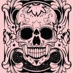 Floral skull — Stock Vector