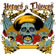 Vettoriale Stock : Heroes and thieves