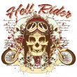 Stock Vector: Hell rider