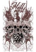 Hell nest — Stock Vector