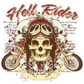 Hell rider — Stock Vector