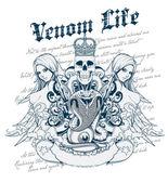 Venom life — Stock Vector