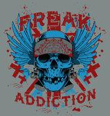 Freak addiction — Stock Vector
