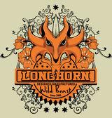 Longhorn — Vettoriale Stock