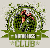 Motocross club — Stock Vector