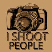 I shoot people — Stock Vector
