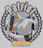 Patriot car — Stock Vector