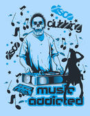 Music addicted — Stock Vector
