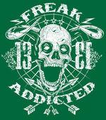 Freak addicted — Stock Vector