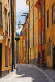 Stockholm Old town road — Stock Photo
