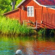Stock Photo: Boathouse during summer