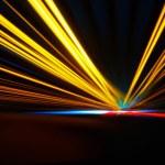 Night acceleration speed motion — Stock Photo