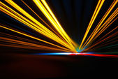 Night acceleration speed motion — Stock Photo