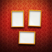 Frames on red vintage background — Stock Photo