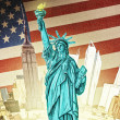 Statue of Liberty - Illustration - Stock Photo
