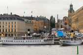 STOCKHOLM - AUG, 24, 2012: Start and finnishing area at the royal cast — Stock fotografie