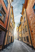 Colorful Alley with Cobblestone — Stock Photo