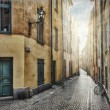 Royalty-Free Stock Photo: Empty street in Stockholm Old Town