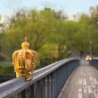 Royalty-Free Stock Photo: A golden crown on bridge