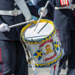 STOCKHOLM, Sweden - JUNE 8: The Royal Wedding between Princess Madeleine and Chris ONeill and the parade with the the Army Music Corps featuring a drummer. June 8, 2013, Stockholm, Sweden — Stock Photo