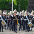 STOCKHOLM, Sweden - JUNE 8: The wedding between Princess Madeleine and Chris ONeill and the parade with the the Army Music Corps marching and playing. June 8, 2013, Stockholm, Sweden — Stock Photo