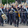 STOCKHOLM, Sweden - JUNE 8: The Royal Wedding between Princess Madeleine and Chris ONeill and the parade with the the Army Music Corps that was starting the procession. June 8, 2013, Stockholm, Sweden — Stock Photo