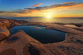 Sunrise over sea during summer — Stock Photo
