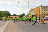Midnight run in Stockholm for children between 8-15 years — Stock Photo
