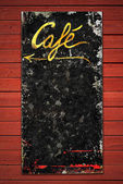 Old coffee sign in weathered metall — Stock Photo