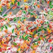 Extremly colorful bush in autumn — Stock Photo
