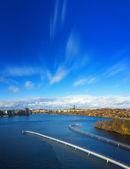Estocolmo, una vista de las partes meridionales de la ciudad — Foto de Stock