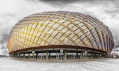 Tele2 Arena in Stockholm Globe City located in Johannesho, Stockholm, Sweden — Stock Photo