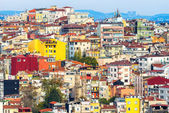 Colorful houses on a hillside in Istanbul — Stock Photo