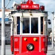 Red tram in Istanbul — Stock Photo