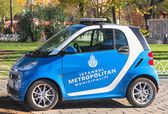 A small blue police car for the metro police in Istanbul — Zdjęcie stockowe