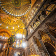 Inside the Hagia Sophia — Stockfoto