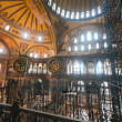 Hagia Sophia museum, renovation of the interior with scaffolding on one side. — Stock Photo #37278955