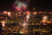 Fireworks over Stockholm — Stock Photo