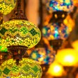Traditional vintage Turkish lamps — Stock Photo