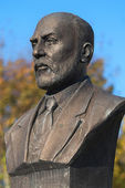 A bronze bust or statue of Mehmet Akif Ersoy writer of the Turkish National Anthem — Stock Photo