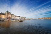 Stockholm Old City from the seaside — Stock Photo