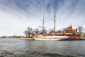 The Brig Tre kronor af Stockholm at Skeppsholmen, Sweden — Stock Photo