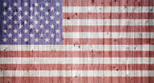 American flag on a wheatered wooden vintage background — Stock Photo