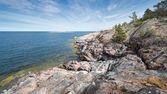 Rocky coastline at the Baltic sea — Stock Photo