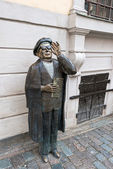 雕像在 jarntorget 在斯德哥尔摩埃弗特塔贝 — 图库照片